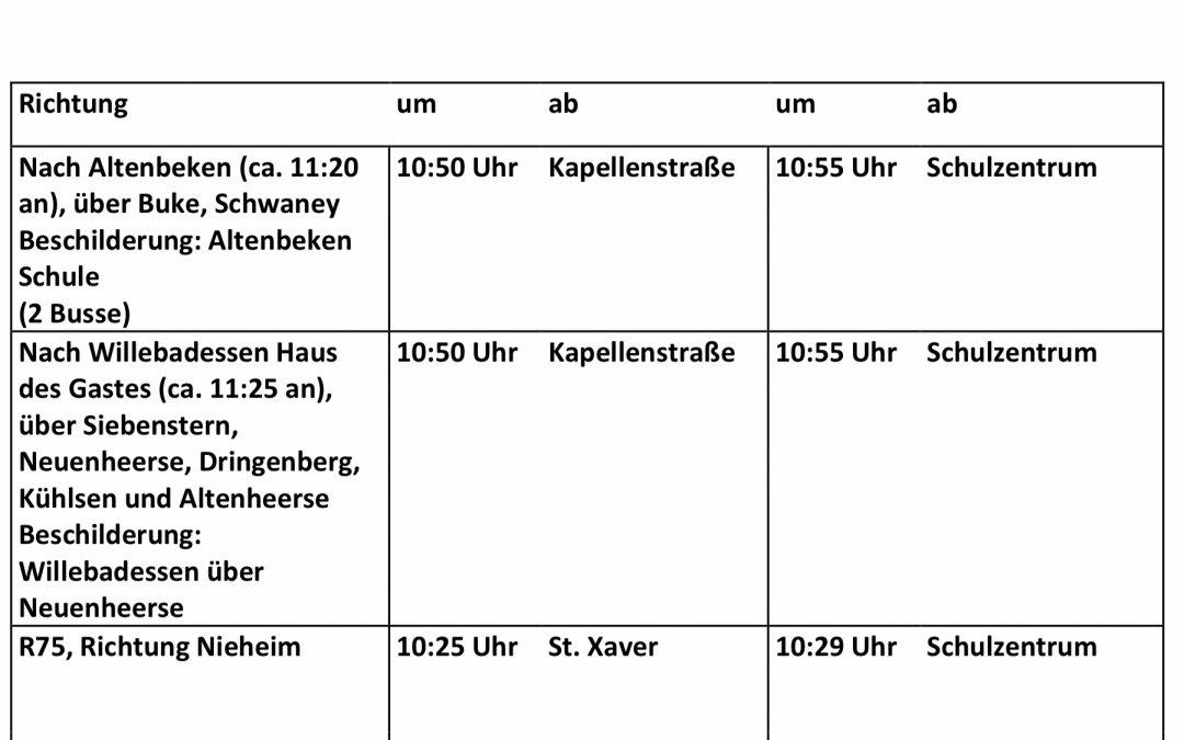 Informationen zum letzten Schultag [20.12.19]