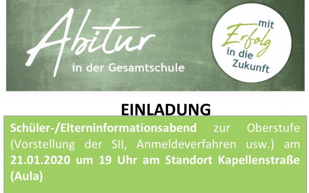 Einladung zum Informationsabend für die künftige EF [2020 / 2021]