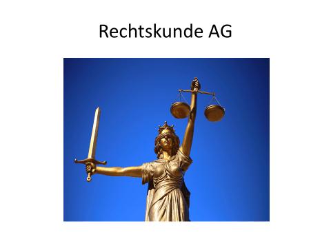 Start der Rechtskunde AG